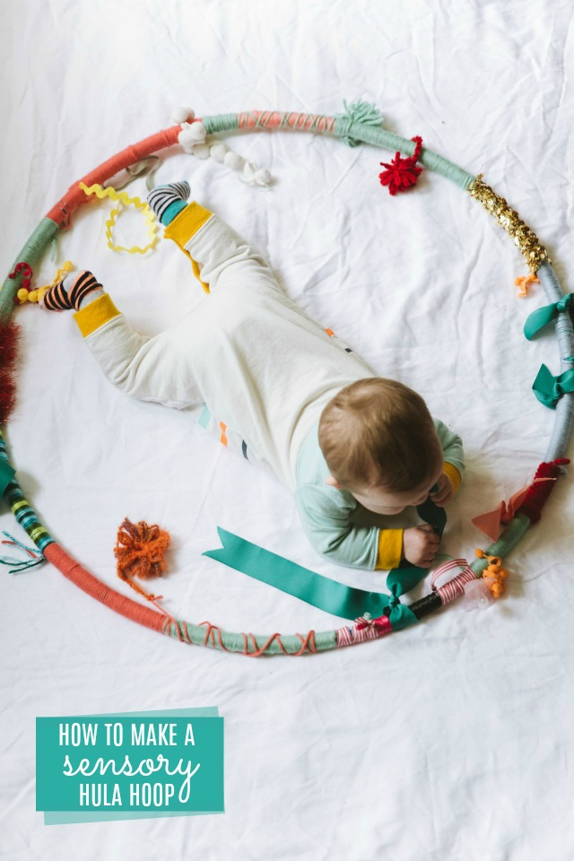 How to make a sensory hula hoop for baby