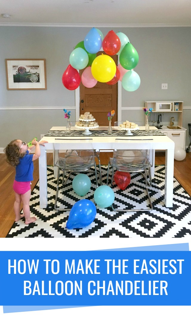 How to make the easiest balloon chandelier