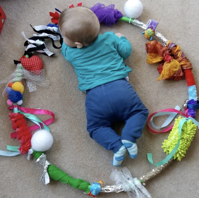 Sensory Hula hoop for baby