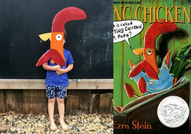 Interrupting chicken book costume