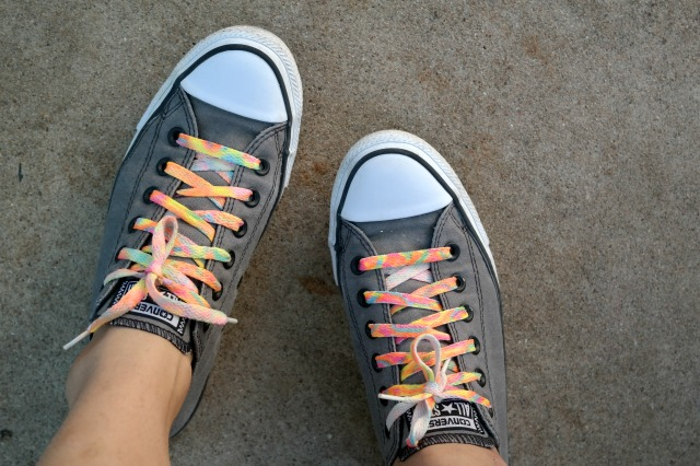 Sharpie tie dye shoelaces