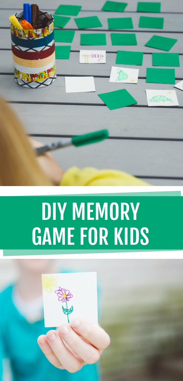 DIY memory game for kids