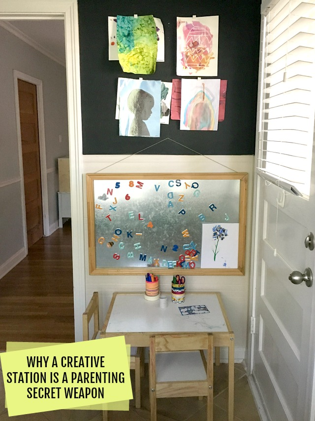 How to set up a creative station for kids