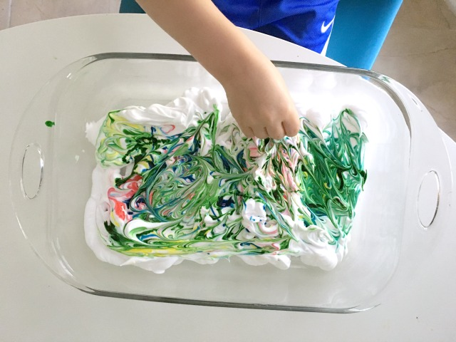 Shaving cream crafts for kids