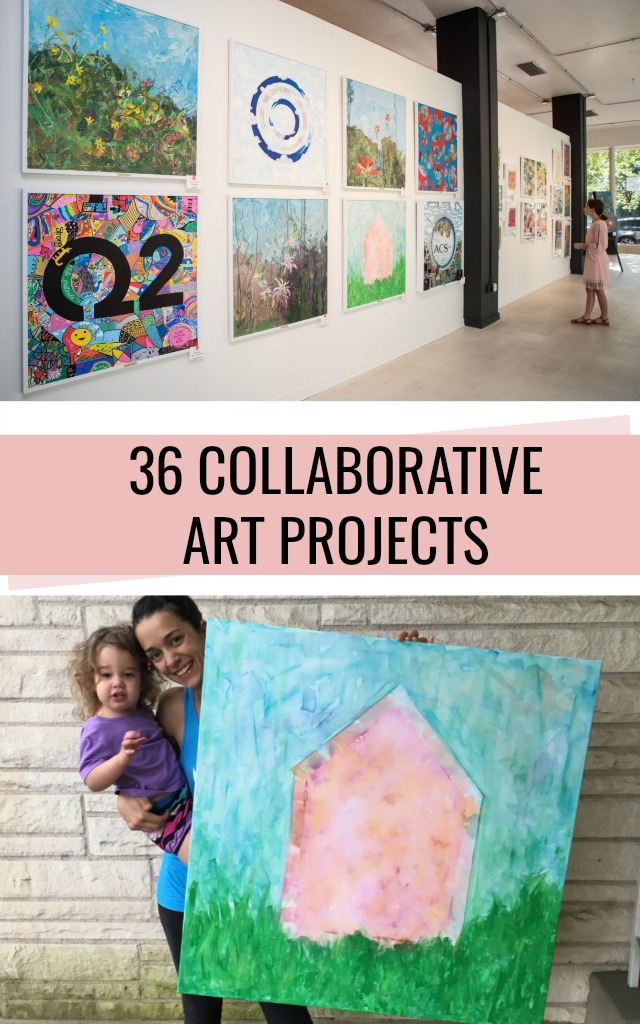 36 Collaborative Art Projects for kids and adults