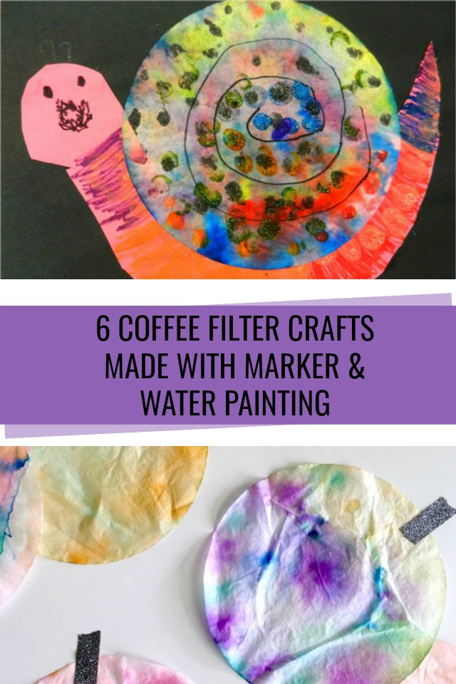 6 Easy, cute, coffee filter crafts for kids