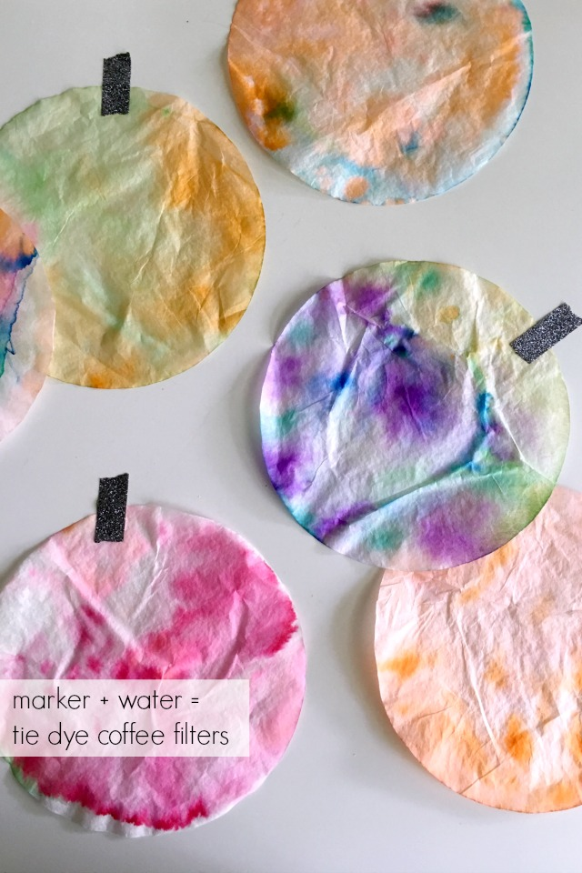 Coffee filter crafts for kids