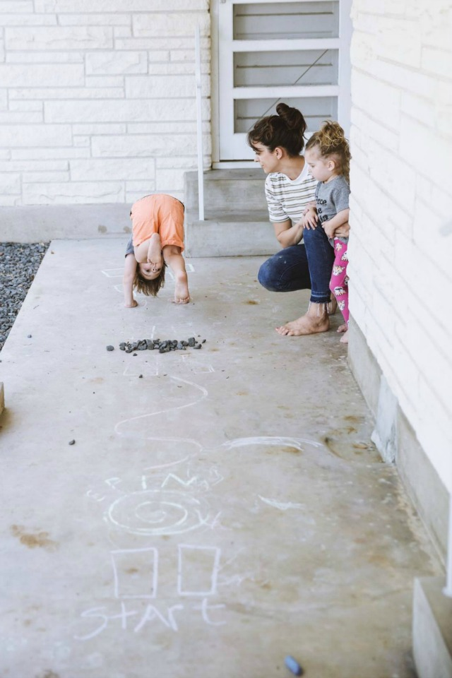 Chalk obstacle course