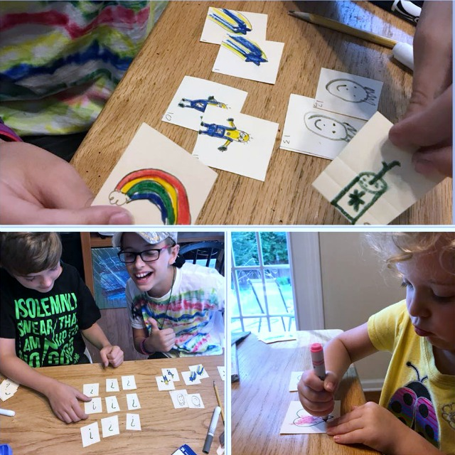 DIY Matching game for kids
