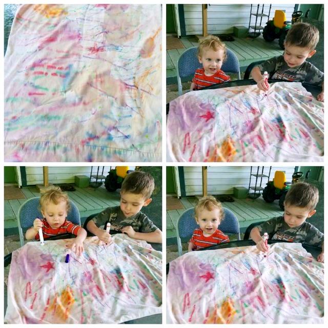 Crayola Marker tie dye
