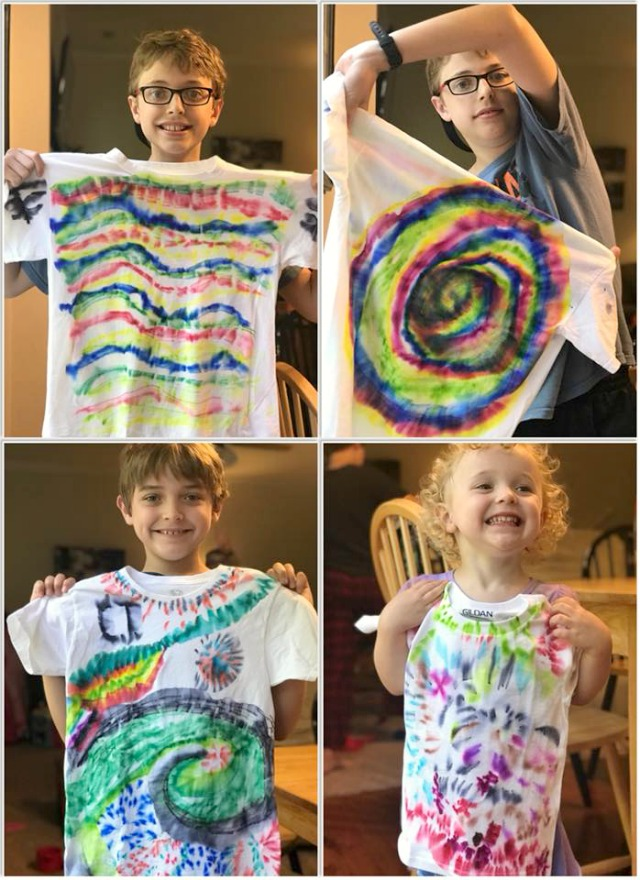 Sharpie tie dye summer crafts for kids