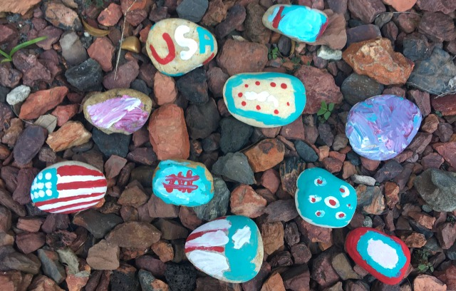 patriotic rock paintings