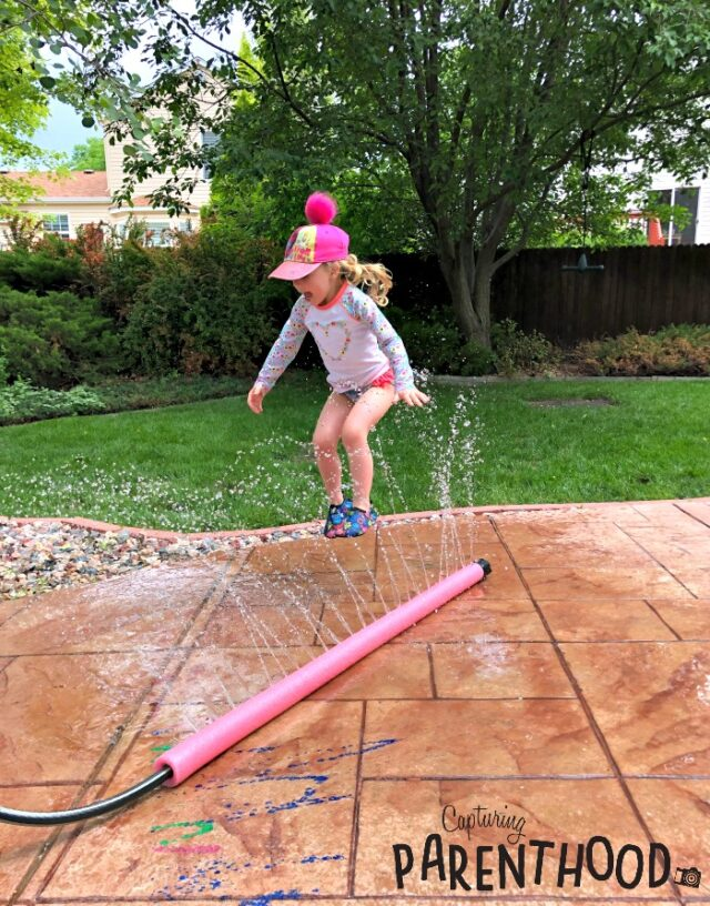 pool noodle sprinkler