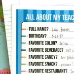 Teachers favorite things list