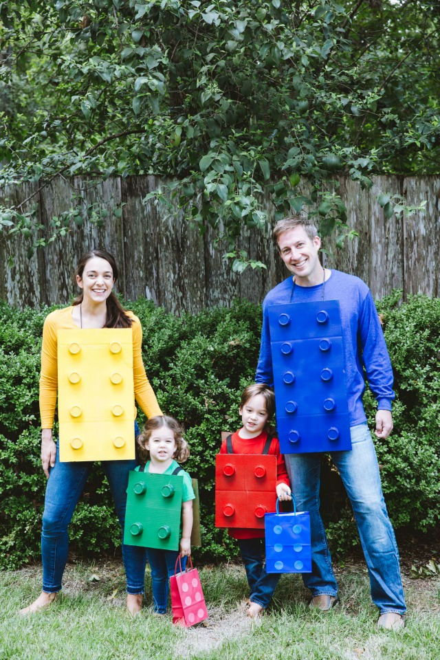 DIY LEGO costumes made out of cardboard