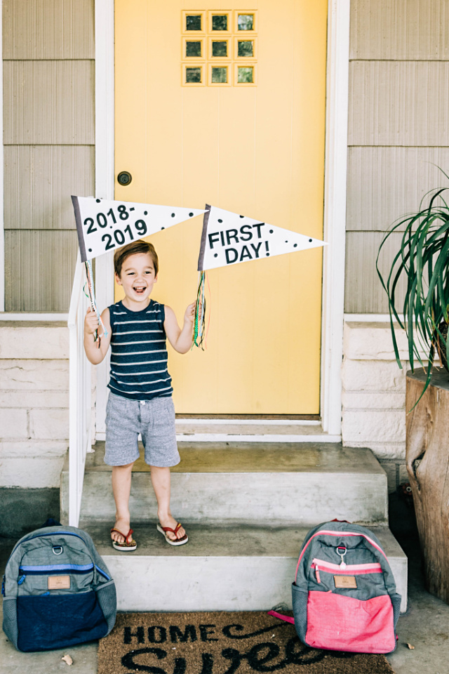 Handmade first day of school signs