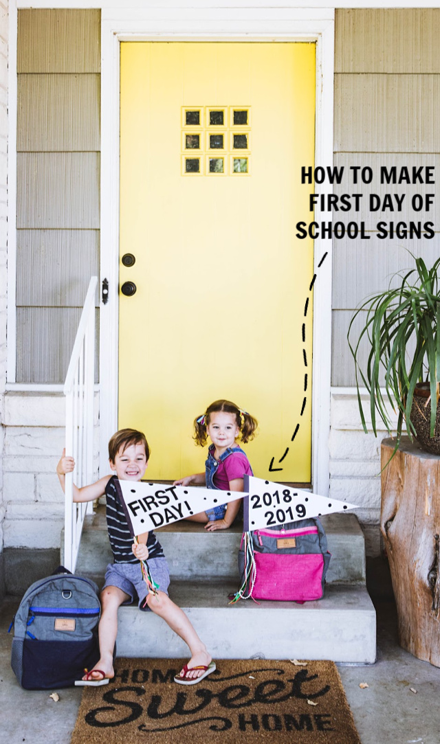 How to make first day of school signs