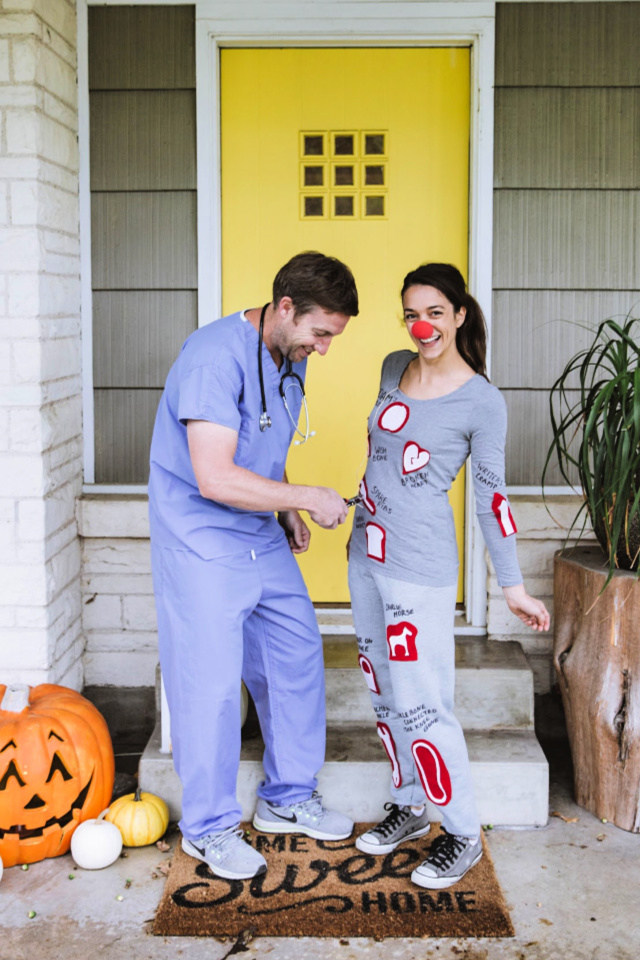 DIY operation costume for couples