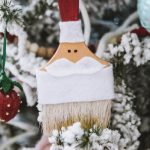 DIY Santa paintbrush ornaments