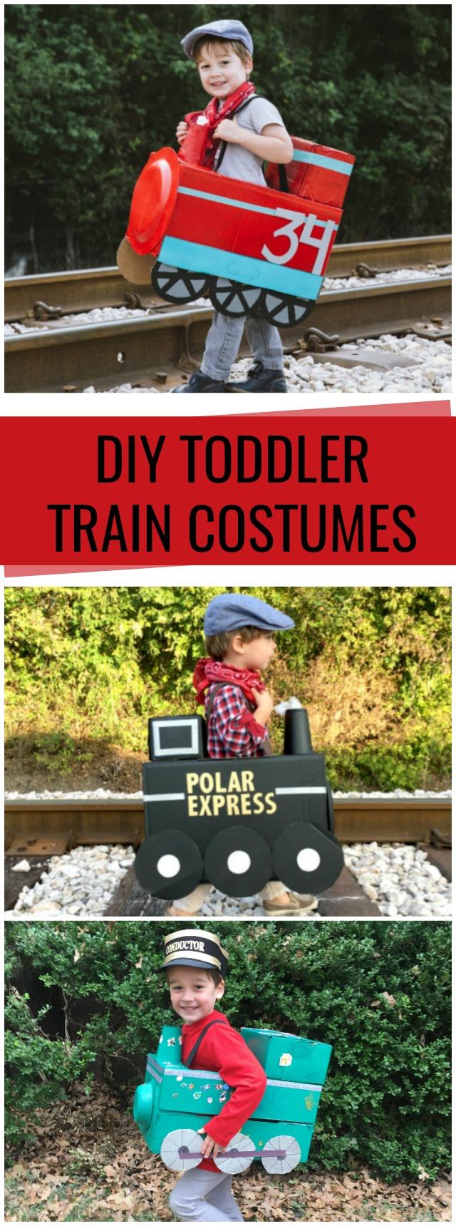 DIY Train toddler train costumes