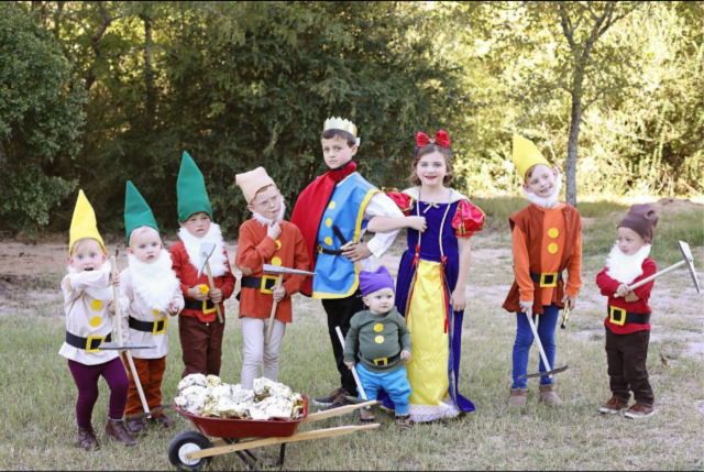 Snow white family costume