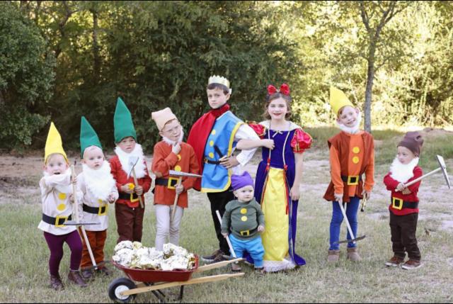 Snow white family costume