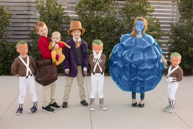 Willy wonka family costumes