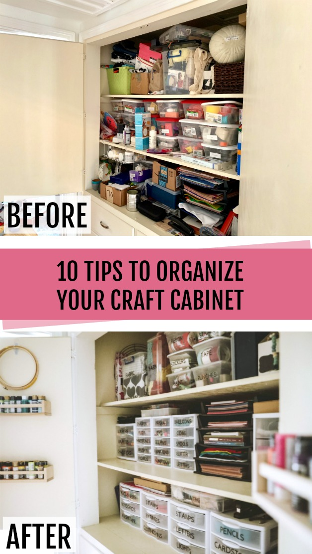 10 Tips for organizing craft supplies