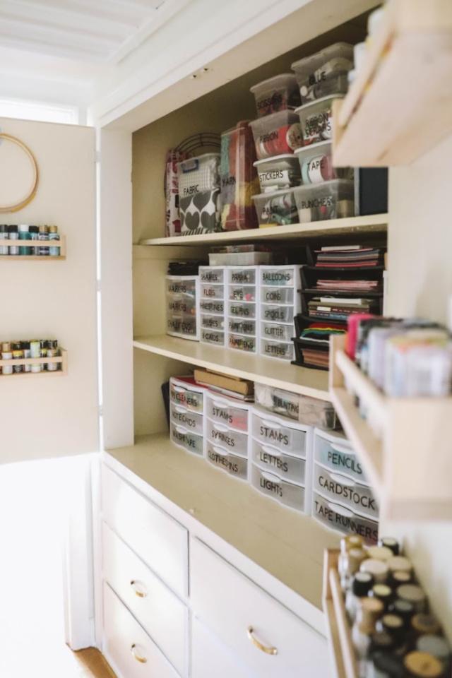 Craft cabinet organization