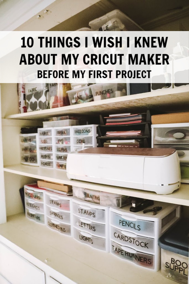 10 things I wish i knew about cricut maker