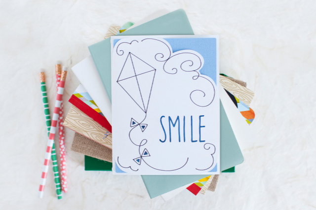 Smile Cricut card