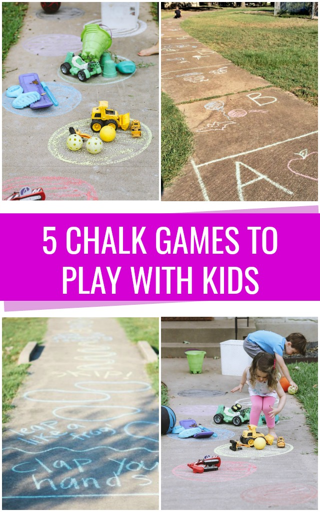5 Sidewalk chalk games to play with kids