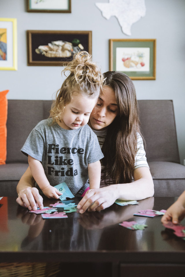 DIY puzzle making with kids