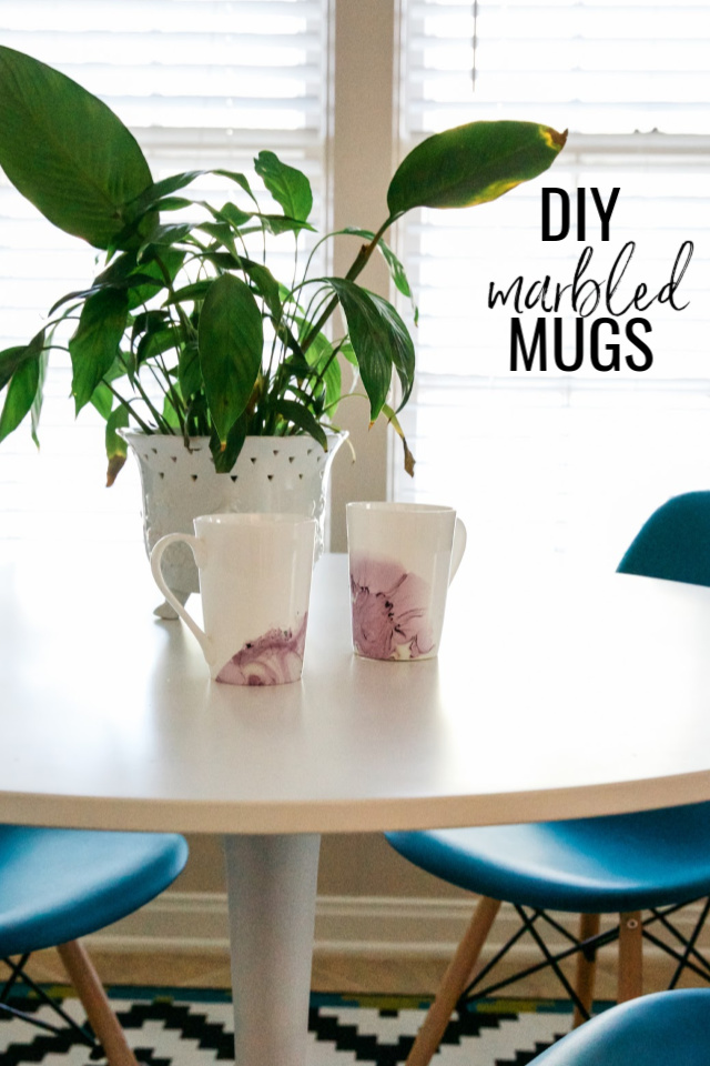 How to make DIY marbled mugs