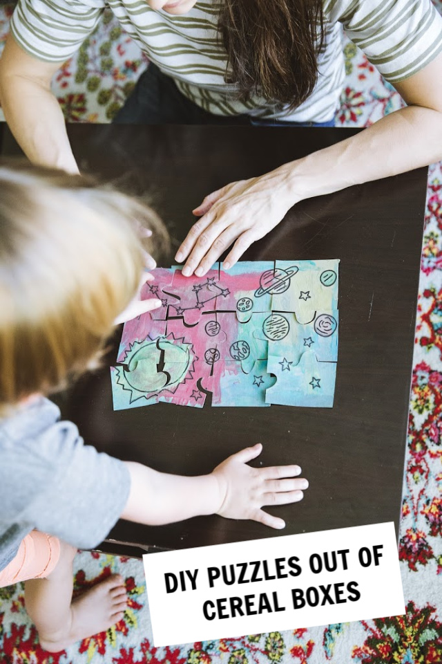 How to make a DIY puzzle with kids