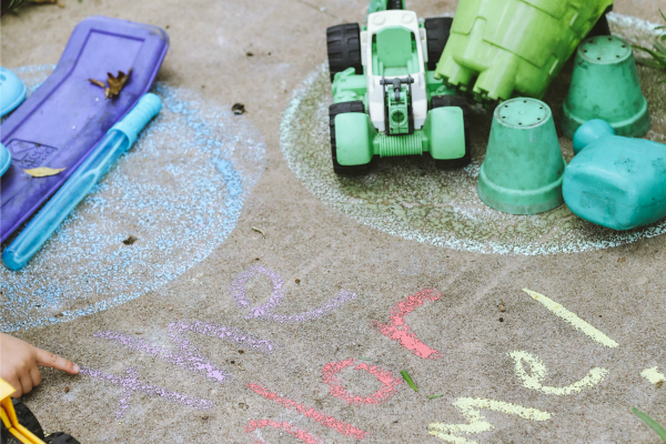 Sidewalk chalk games