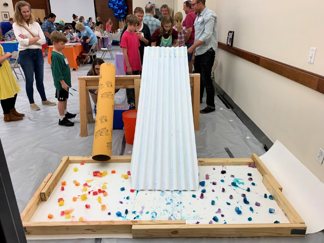 Interactive art with kids