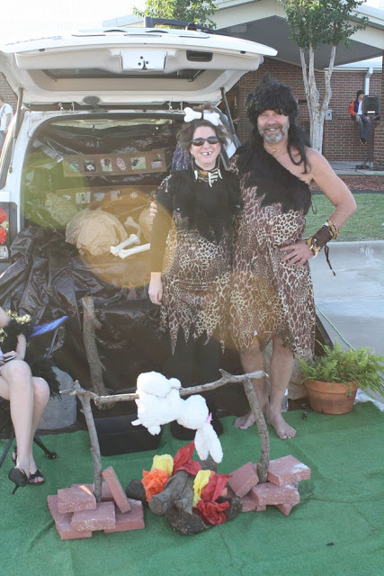 Cavemen trunk or treat ideas