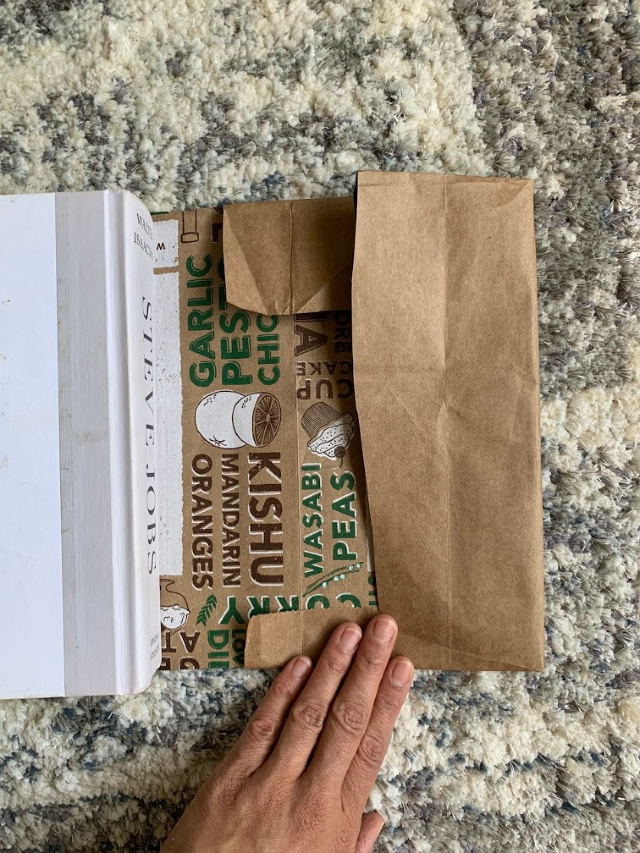 How to cover a book in a brown bag