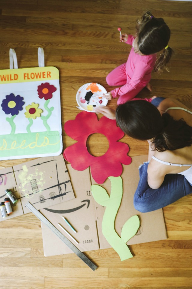 DIY Flower costume and seed packet