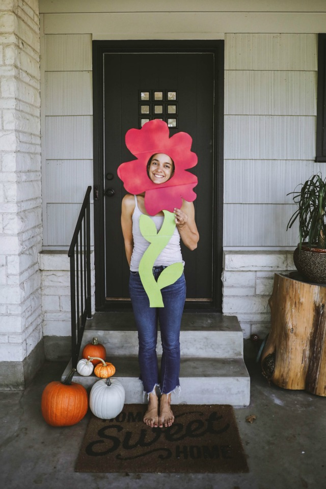DIY adult flower costume
