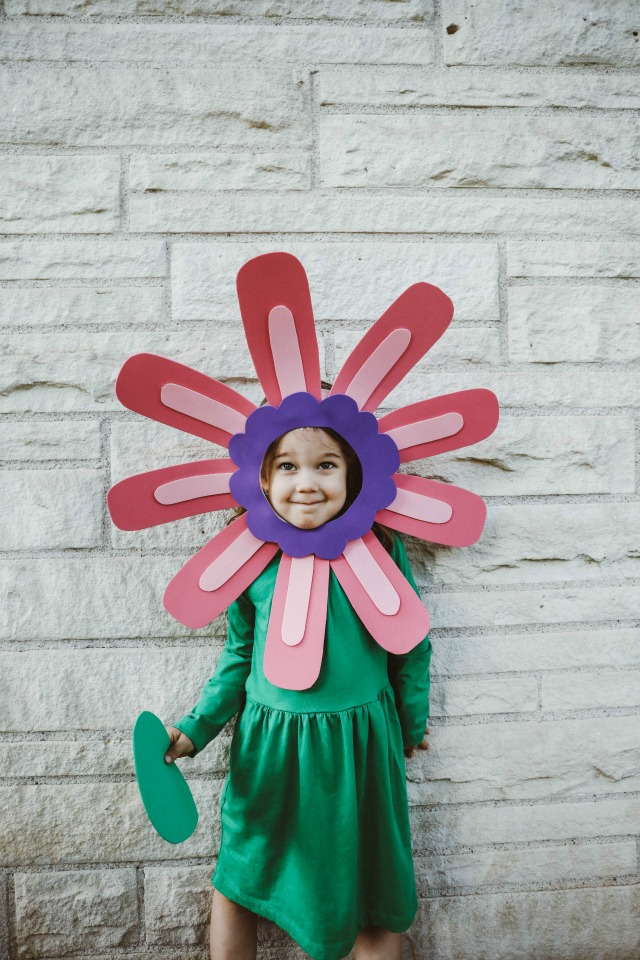 DIY easy flower costume