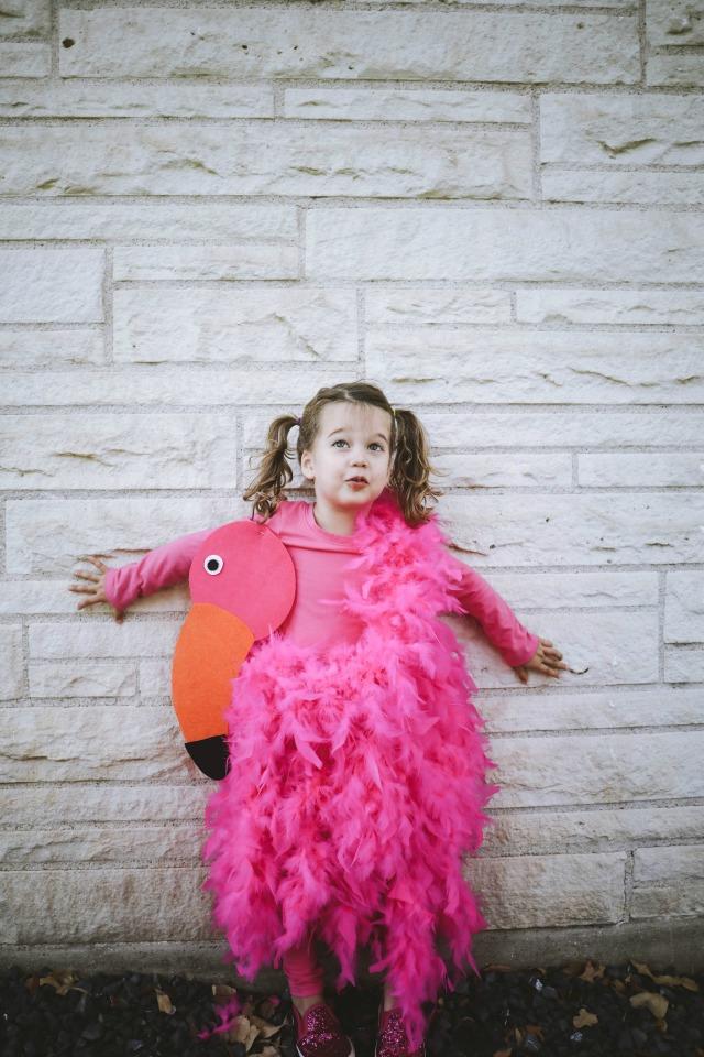 Flamingo costume DIY