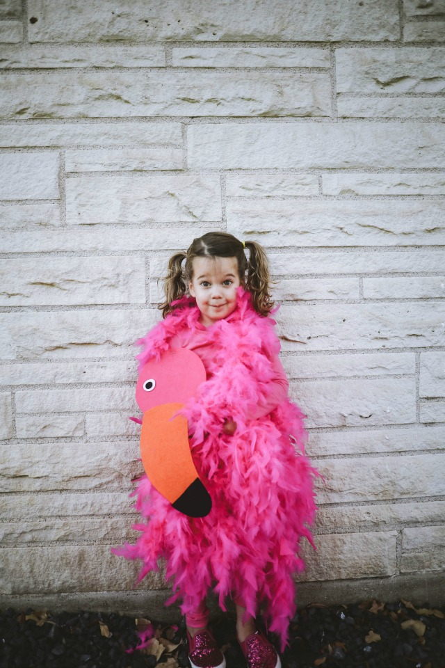 Flamingo costume DIY