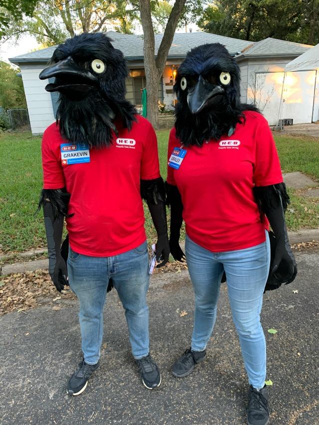 HEB Grackels win Halloween costumes 2019