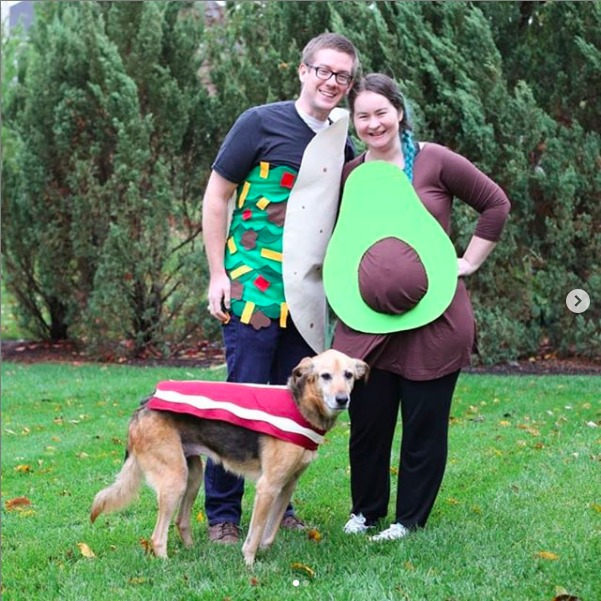Pregnant Avocado costume