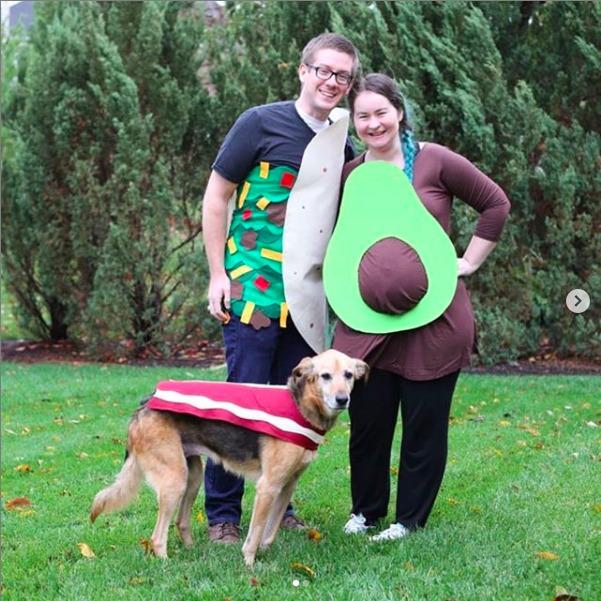 Pregnant Avocado costume