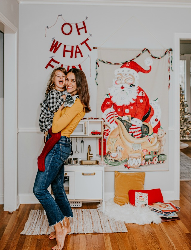 Simple Christmas decor for kids