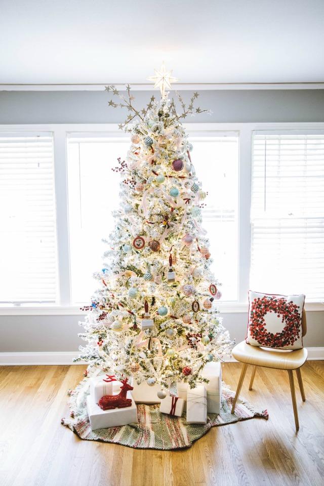 White Christmas Tree Decor