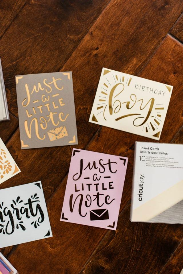 Cricut card kits